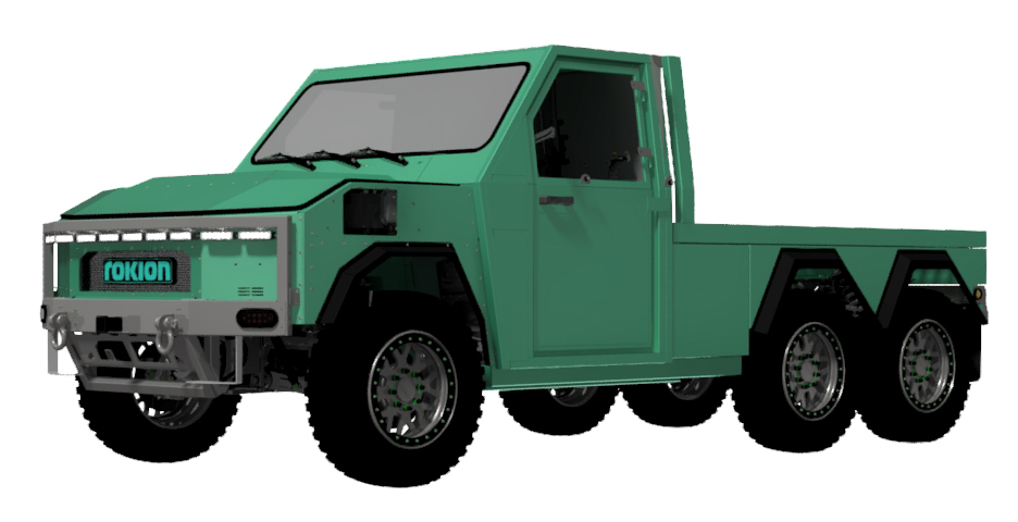Techinical Illustration of the Rokion R600 Battery Powered Truck